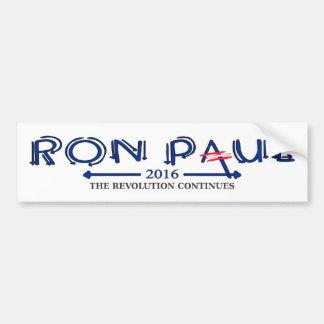 Ron Paul 2016 La revolución continúa Pegatina De Parachoque