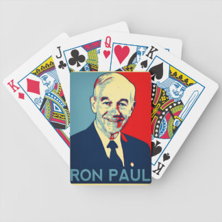 ron paul 2 bicycle poker cards