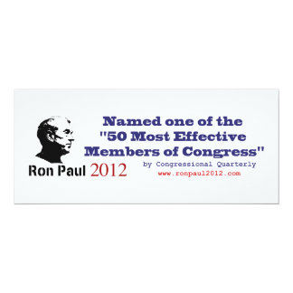 Ron Paul 50 Most Effective Members of Congress Invite