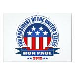 "Ron Paul 5"" X 7"" Invitation Card"