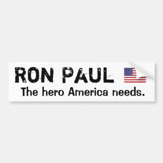 Ron Paul American Hero Car Bumper Sticker