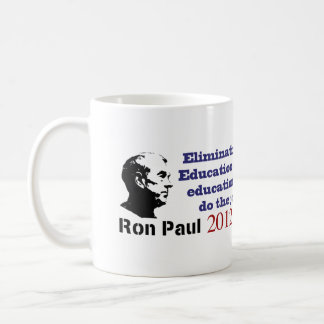 Ron Paul and the Department of Education Classic White Coffee Mug