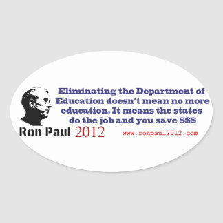 Ron Paul and the Department of Education Oval Sticker