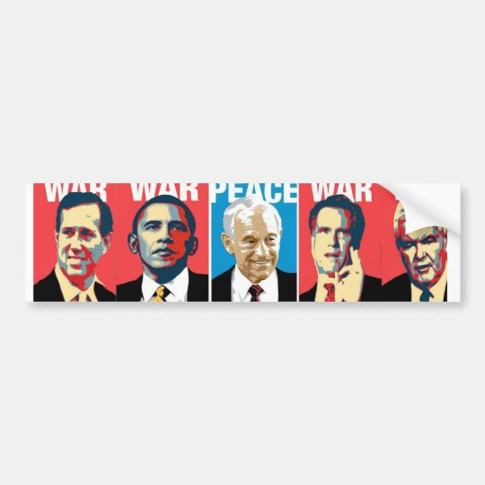 Ron Paul Anti-War Bumper Sticker