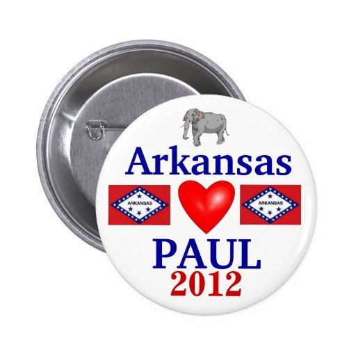 Ron Paul Arkansas 2012 Pin Redondo 5 Cm