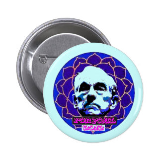 Ron Paul blue mandala Button