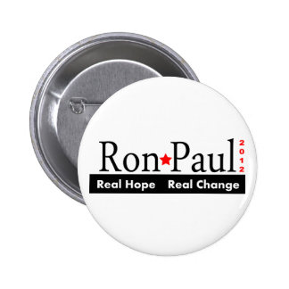 Ron Paul - botón real del cambio 2012 de la espera