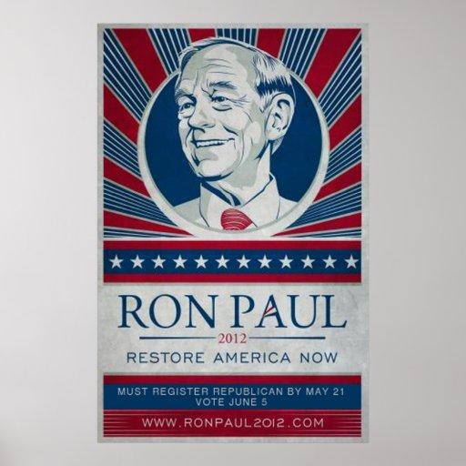Ron Paul California Poster