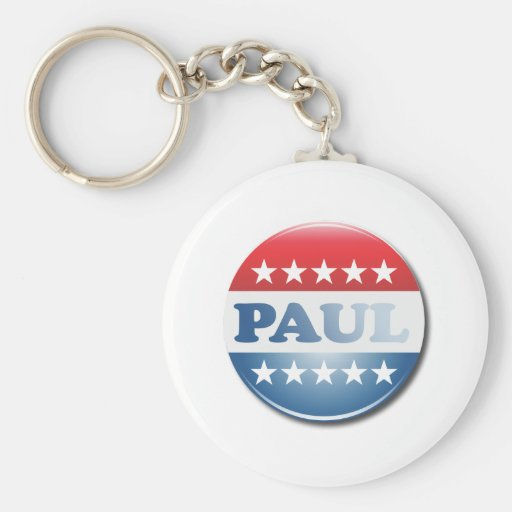 RON PAUL CAMPAIGN BUTTON BASIC ROUND BUTTON KEYCHAIN