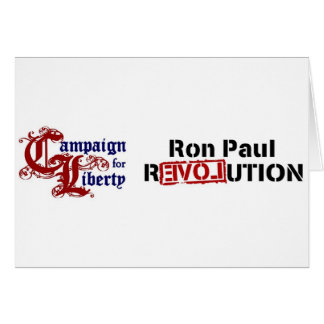Ron Paul Campaign For Liberty Revolution Card