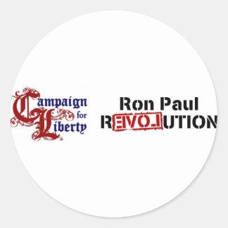 Ron Paul Campaign For Liberty Revolution Classic Round Sticker