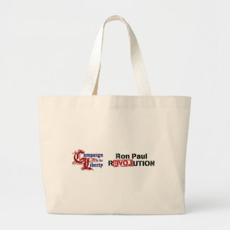 Ron Paul Campaign For Liberty Revolution Large Tote Bag