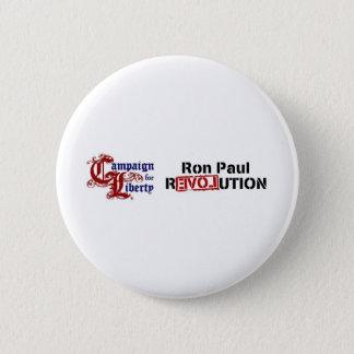 Ron Paul Campaign For Liberty Revolution Pinback Button