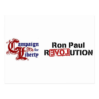 Ron Paul Campaign For Liberty Revolution Postcard