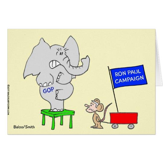 Ron Paul campaign scares Republicans. Card