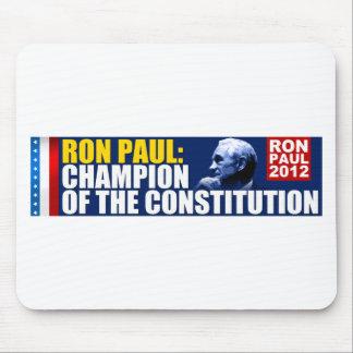 Ron Paul: Campeón de la constitución Tapetes De Ratón