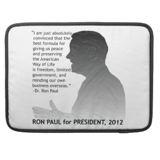 Ron Paul, Candidate for US President in 2012 Sleeve For MacBooks