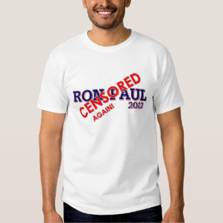 ¡Ron Paul censuró otra vez! Camisas