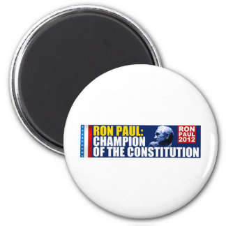Ron Paul: Champion of the Constitution 2 Inch Round Magnet