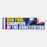 Ron Paul: Champion of the Constitution Bumper Sticker