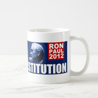 Ron Paul: Champion of the Constitution Classic White Coffee Mug