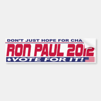 Ron Paul Change Bumper Sticker