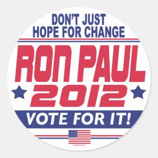 Ron Paul Change Classic Round Sticker