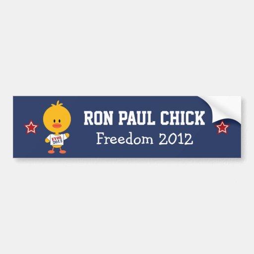 Ron Paul Chick Bumper Sticker EVOL 2012