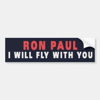 RON PAUL CON USTED PEGATINA PARA AUTO
