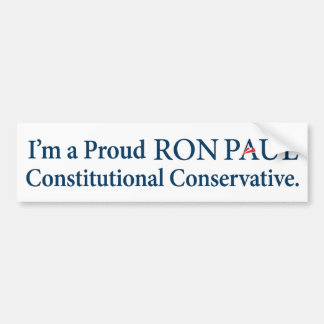 Ron Paul Conservative Bumper Sticker