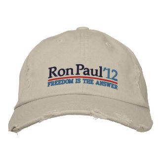 Ron Paul de' gorra del estilo 12 campañas Gorras Bordadas