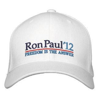 Ron Paul de' gorra del estilo 12 campañas Gorros Bordados