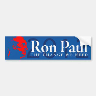 Ron Paul - el cambio que necesitamos Pegatina Para Auto