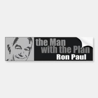 Ron Paul: El hombre con el plan Pegatina Para Auto