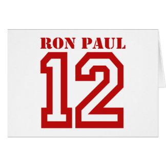 RON PAUL EN '12 TARJETA DE FELICITACIÓN
