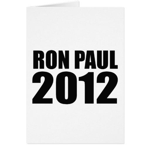 Ron Paul en 2012 Tarjetas