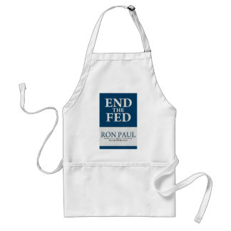 Ron Paul End the Fed Banner Adult Apron