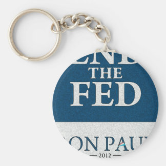 Ron Paul End the Fed Banner Basic Round Button Keychain
