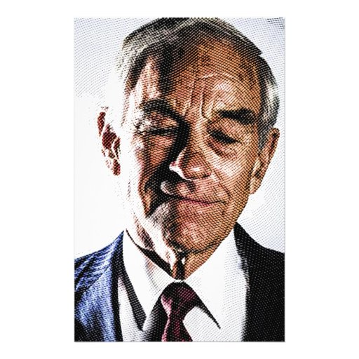 ron paul engraved portrait customized stationery