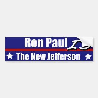 Ron Paul es el nuevo Jefferson Pegatina Para Auto