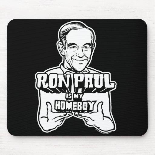 Ron Paul es mi Homeboy Alfombrillas De Raton