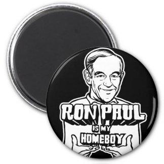 Ron Paul es mi Homeboy Imán Redondo 5 Cm