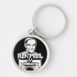 Ron Paul es mi Homeboy Llavero Redondo Plateado