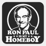 Ron Paul es mi Homeboy Pegatina Cuadrada