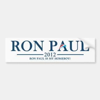 ¡Ron Paul es mi Homeboy! Pegatina para el Pegatina Para Auto