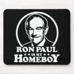 Ron Paul es mi Homeboy Tapetes De Raton