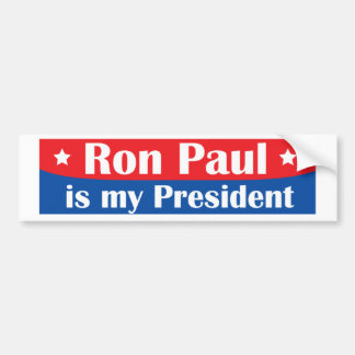 Ron Paul es mi presidente Pegatina De Parachoque