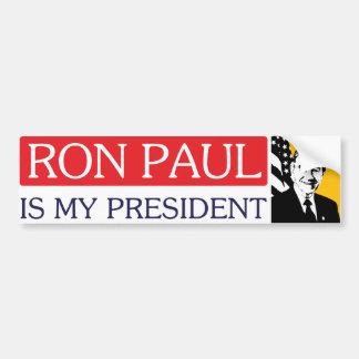 Ron Paul es mi presidente pegatina para el paracho Pegatina De Parachoque