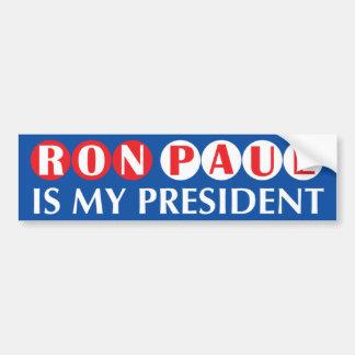 Ron Paul es mi presidente pegatina para el paracho Pegatina Para Auto
