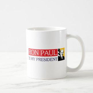 Ron Paul es mi presidente Taza Básica Blanca